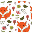 forest seamless pattering in cartoon style vector image vector image