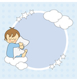 Frame baby boy for text or photo vector image