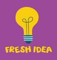 fresh idea light bulb shape as inspiration vector image