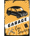 Garage Vintage poster with a retro car vector image vector image