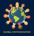 global communication flat design vector image vector image