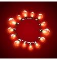Glowing Lights Luminous Electric Wreath vector image vector image