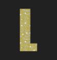 gold glitter or sequins letter - l vector image