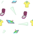 Golf elements pattern cartoon style vector image