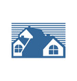 group house blue stripe vector image vector image