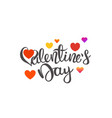 happy valentines day card template with vector image vector image