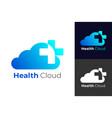health cloud logo designs concept vector image