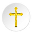 holy cross icon circle vector image vector image