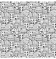 Houses Pattern Big Light vector image vector image