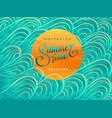 invitation card with summertime lettering vector image vector image