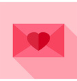 Love envelope with heart vector image vector image
