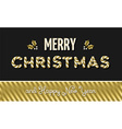 Merry christmas and new year gold text design vector image vector image