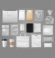 mock up for take away packaging food containertea vector image
