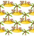 Monkey on island kid seamless pattern for vector image vector image