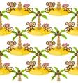 monkey on island kid seamless pattern vector image vector image