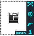 newspaper icon flat vector image