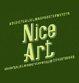 nice art typeface retro font isolated english vector image vector image