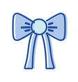 nice ribbon bow decoration design vector image vector image