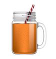 orange smoothie mockup realistic style vector image vector image