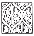 painting pattern is a 15th century design vintage vector image vector image
