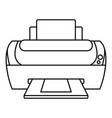 photo printer icon outline style vector image