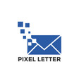 pixel mail graphic icon design template vector image