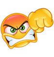 punching emoticon vector image vector image