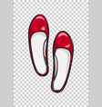 red ballerina flat shoes isolated vector image vector image