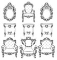 rich imperial baroque rococo furniture and frames vector image vector image