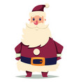santa claus cartoon christmas character vector image vector image