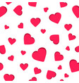 seamless geometric pattern red heart valentine vector image vector image