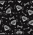 seamless grunge pattern with vintage diamonds vector image vector image