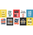set 10 motivational and inspirational vector image vector image