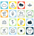 set of 16 ecology icons includes sunshine sunny vector image vector image