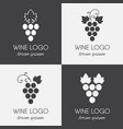 set of grapes logo vector image vector image