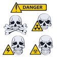 Signs of danger on white background vector image vector image