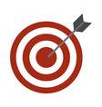strategy target office business work flat style vector image