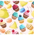Teaparty seamless background vector image vector image