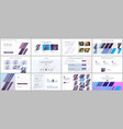 templates for website design presentations vector image vector image
