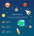 traveling around solar system by spaceship vector image vector image