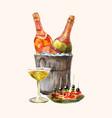 watercolor for invitation degustation or tasting w vector image