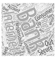 Your Consumer Rights in Internet Banking Word vector image vector image