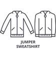 jumper sweatshirt line icon outline sign linear vector image