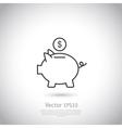 Piggy bank and dollar coin icon vector image