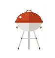 Red Barbeque Grill Icon vector image