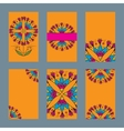 Six design card with indian ornament vector image