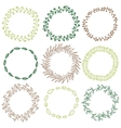 Set of decorative circle frames vector image