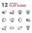 12 safari icons vector image vector image