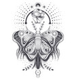 a sketch tattoo art vector image vector image
