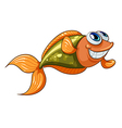 A smiling tiny fish vector image vector image